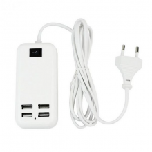 4 — Ports 15W High Compatibility USB Desktop Charger Support iPad / iPhone Samsung / Android