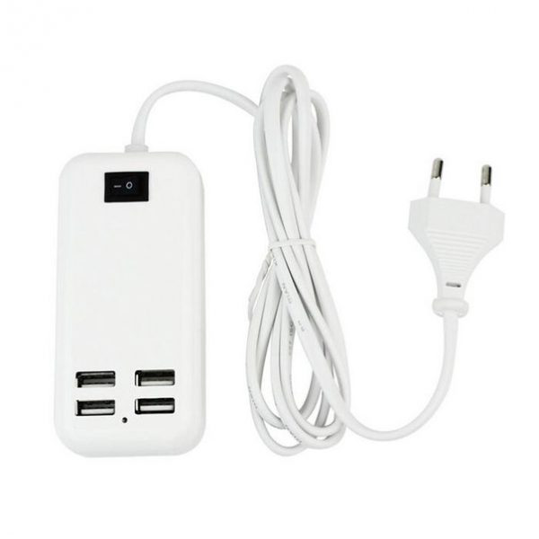 4Ports 15W High Compatibility USB Desktop Charger Support iPad iPhone Samsung Android