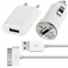 TRAVEL KIT ДЛЯ IPHONE 4/4S/3GS/3G, IPOD TOUCH 3 в 1
